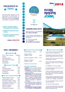 Piscina Municipal Jorba 2018